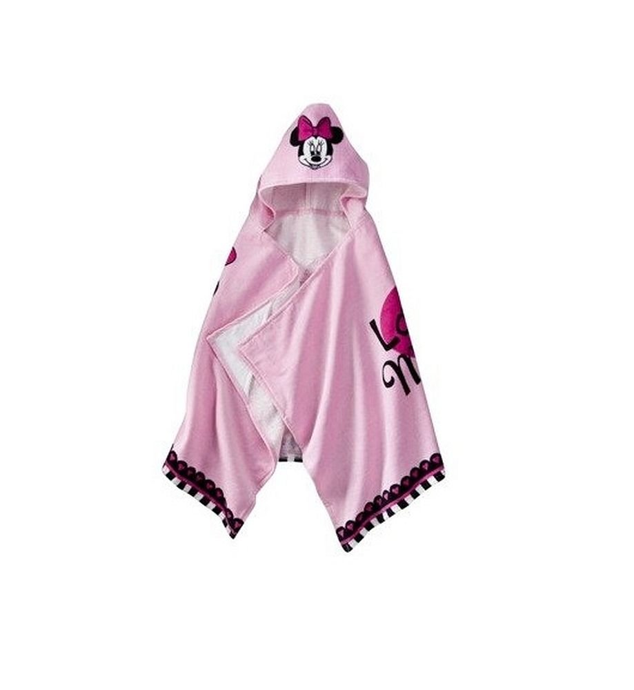 Max 55% OFF Disney Girl's Terry Cloth Minnie Outlet ☆ Free Shipping Hooded Towel Mouse Bath Pink