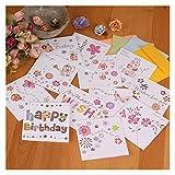 lliang Tarjeta de Felicitación 5pcs / Set Korea Hollow Creative Tarjetas de felicitación del Profesor Tarjetas de felicitación de cumpleaños Mini Tarjetas de felicitación (Farbe : Randomly)