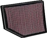 K&N Filtro de aire del motor: alto rendimiento, premium, lavable, filtro de repuesto de panel: 2015-2019 (V40 Cross Country, V40), 33-3055