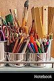 Notebook: Material De Bellas Artes, Cepillos, Reglas, Tijeras Cuaderno / Diario / Libro de escritura / Notas - 6 x 9 pulgadas (15.24 x 22.86 cm), 150 páginas, superficie brillante.