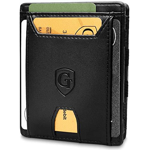 GenTo® FLAPLET II Magic Wallet - certificato RFID, protezione NFC - Portafoglio magico sottile con ampio scomparto per monete - Regalo per uomo - disponibile in 5 colori   Design Germania