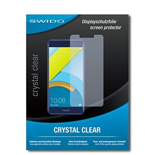 SWIDO Bildschirmschutzfolie für Huawei Honor 6C Pro [3 Stück] Kristall-Klar, Extrem Kratzfest, Schutz vor Öl, Staub & Kratzer/Glasfolie, Bildschirmschutz, Schutzfolie, Panzerfolie