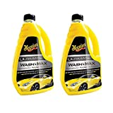 Meguiar's Ultimate Wash & Wax Car Care Cleaning Kit Solution, 48 Ounces (2 Pack)