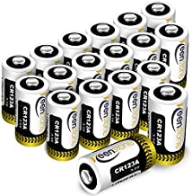 CR123A 3v Lithium Battery[18 Pack], Keenstone UL Certified Non-Rechargeable 1600mAh Lithium Batteries for Flashlight Torch Microphones (NOT for Arlo Cameras)
