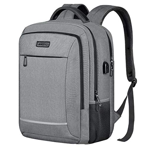 Best Deals! Travel Laptop Backpack,JUKSTG Durable College School Computer Bag With USB Charging Port...