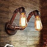 QTWW Lámpara de Pared Industrial Tubo de Agua Oxidado Luz de Pared Pasillo Sala de Estar Luces Decorativas Iluminación de Pared Retro Loft Lámpara Vintage Luces de Pasillo, para Cocina Dormitorio
