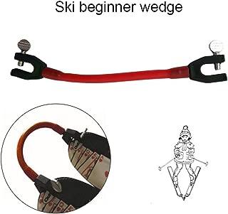 coldwhite スキーチップコネクタコンパクト ラテックスチューブスキークリップ エディ・ウェディ 初心者に適した速度制御機能の弾力性スノーボードフィクサーと一緒にスキーのヒントを保持します 21 3.5 1cm 赤