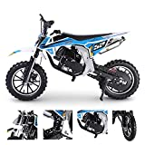 52cc Kids Gas Dirt Bike Off Road Mini Dirt Bike for Kids Gas Motorcycle (Not CA Compliant) (Blue)