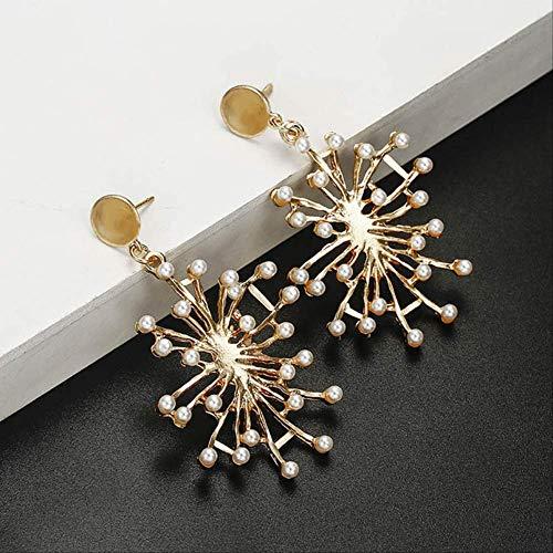 Geschenken Oorbellen Delicate grote metalen bloem Druppel oorbellen voor vrouwen Bohemian Style Hanger Oorbellen Sieraden Jubileum GiftStyle 9