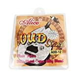 Musiclily Alice Nylon & Silver-Plated Wound 12 String Oud Strings Set
