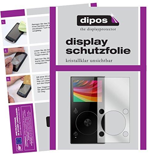 dipos I 6X Protector de Pantalla Compatible con FiiO X3 Mark III MP3-Player pelicula Protectora Claro
