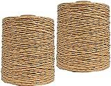 2 Paquete de verano sol sombrero de paja hilado claro rosa bolsa de ganchillo hilado rafia hilado regalo embalaje hilado hilo de hilo textil hilo de bricolaje suministros de manualidades Hilo