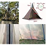 Outdoor Portable Waterproof Camping Pyramid Teepee Tent Pentagonal Adult Tipi Tent with Stove Hole 5