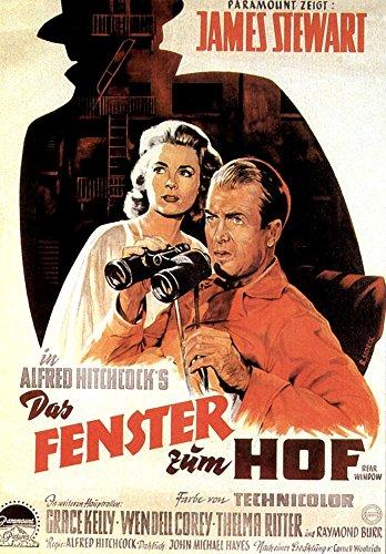 Rear Window From Left Grace Kelly James Stewart 1954 Movie Poster Masterprint (11 x 17)