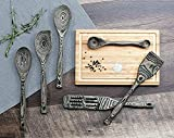 Black Wood 6-Piece Kitchen Utensil Set Cooking Tools Spoons Home gadgets
