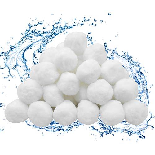 WBYJ Filter Balls 700g Filtermaterial ersetzen 25 kg Filtersand, Polysphere Filterbälle Filter für Pool, Sandfilter, Schwimmbad, Filterpumpe Aquarium Sandfilter