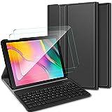 ELTD Español diseño Teclado Funda [con la tecla (ñ)] + película templada[2 Paquetes] para Samsung Galaxy Tab A 10.1...