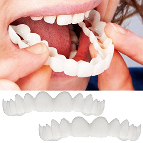 Fulltime Comfort Fit Flex cosmétiques dents prothèse dentaire haut placage cosmétique (2PCS)