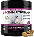 10 Benefits in 1 Daily Treat - PetHonesty's 10-For-1 Multivitamin chews combine a well-rounded blend of the most essential vitamins and supplements for dogs' overall daily health including glucosamine, probiotics, vitamins, and omega's. Joint Health ...
