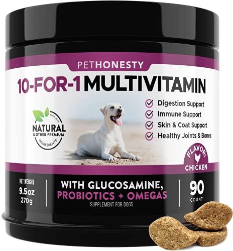 PetHonesty 10 in 1 Dog Multivitamin with Glucosamine - Essential Dog...