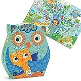 Puzzle Enfant 3 Ans Djeco Hiboux 24 pièces Boîte Silhouette