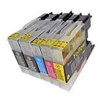 BROTHER LC12-4PK+BK(BK2/C/M/Y) 5本セット 〈ブラザー〉良質互換インクカートリッジ ICチップ/残量表示/1年間保証付き 〈Chip製〉