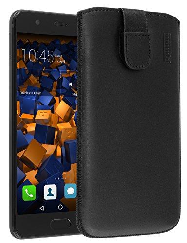 mumbi Echt Ledertasche kompatibel mit Honor 5C Hülle Leder Tasche Hülle Wallet, schwarz