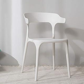 Tellgoy-Chair Sillas Creativa Comedor Sala de Estar, diseño Moderno sillas de Cocina PP Material, sillas taburetes para Comedor salón Cocina Dormitorio Office Lounge Restaurante,D,X1