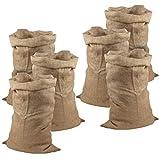 Meister Sacos de Yute 105 x 60 cm – 50 kg de Carga – Sacos ecológicos de Fibra Natural – 100% Yute – Resistentes / Saco de Patatas / Protección contra heladas / Saco de Papá Noel / Saquitos, marrón