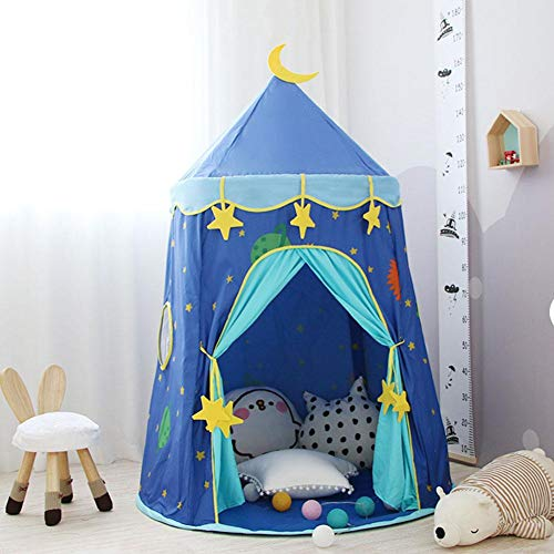 Ecisi Premium Princess Play Tent Kids Yurt Tents Children Playhouse Kids Castle Indoor Outdoor Play Game House Baby Home Tent Boys Girls Camping Toys