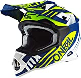 Oneal 2SRS Helmet SPYDE 2.0 Blue/White/Neon Yellow M (57/58 cm) Casco, Adulti Unisex