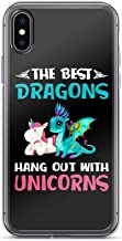 The Best Dragons Hang Out with Unicorns Shockproof Anti-Scratch Case for iPhone 7 Plus/8 Plus