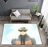 Alfombra De Sala De Estar 3D Dibujos Animados Anime Naruto / Uchiha Sasuke Alfombras De Impresión para El Área del Dormitorio Alfombras Alfombras Alfombras para Niños 160X230Cm-1_80x160cm