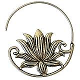Chic-Net Piercing en espiral para hombre y mujer, de latón blanco en plata como flor de loto, espiral para 1,4 mm de dilatación, 13 g