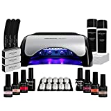 Kit Manucure Semi-Permanente I 6 Vernis à Ongles et Lampe UV/LED 48W I Coffret Ruby I Cruelty Free I Méanail Paris