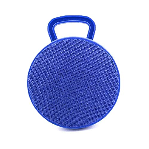 Portable Bluetooth Speaker, Mini Shower Speakers with Powerful Loud& 360° Surround Sound& Rechargeable Battery& Microphone, Fabric Design,Outdoor Speaker for Home, Indoor, Travel, Party, Blue