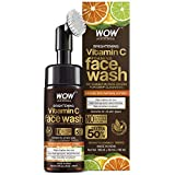 WOW Skin Science Brightening Vitamin C Foaming Face Wash with Built-In Face Brush for Deep Cleansing - No Parabens, Sulphate, Silicones & Color, 150 ml