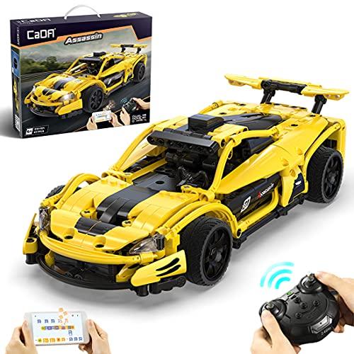 Bulokeliner Modelo de bloques de construcción para coches deportivos Lamborghini, CADA C51101 2,4 G, coche de carreras con mando a distancia, 417 piezas, bloques de construcción compatibles con Lego