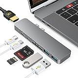 Hub USB C per MacBook Pro/Air M1 2020/2019/2018, 7 in 2...