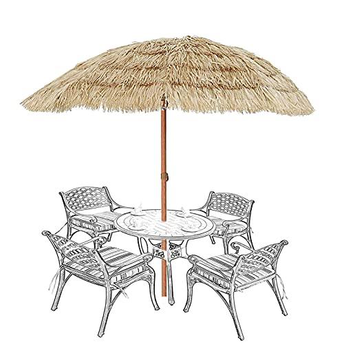 XINGG Sombrilla De Jardín Hawaiana para Patio, Sombrilla De Playa, Sombrilla De Jardín Al Aire Libre con Mecanismo De Inclinación, Sombrilla De Paja Estilo Hula Al Aire Libre De Estilo Hawaiano