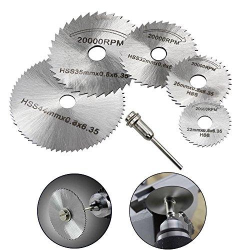 ZEROFL 6 Pcs Sägeblatt Kreissägeblatt Set,dremel drehwerkzeug geeignet Trennscheiben Schneid Set