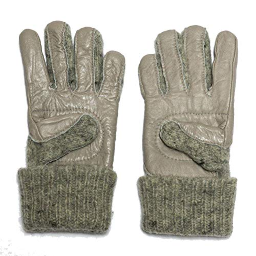 Dachstein Woolwear Leather Trim Wool Gloves, size 8.0, Grey