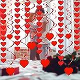 Tacobear San Valentin Decoracion San Valentin Globos Globos Corazon Rojo Petalos Rosa Artificiales para San Valentin Bodas Matrimonio Compromiso Romantica Decoracion