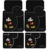 U.A.A. INC. Mickey Mouse Vintage Front & Rear Car Truck SUV Seat Rubber Floor Mats