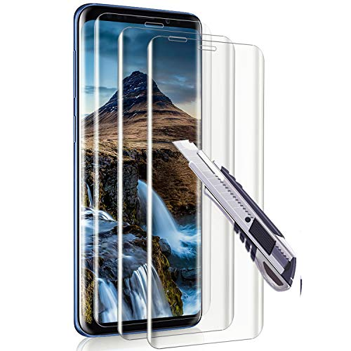 Ylife Panzerglas Schutzfolie Kompatibel mit Samsung Galaxy S9 [3 Stück], HD Displayschutzfolie 9H Härte Glas Folie Kompatibel mit Samsung S9