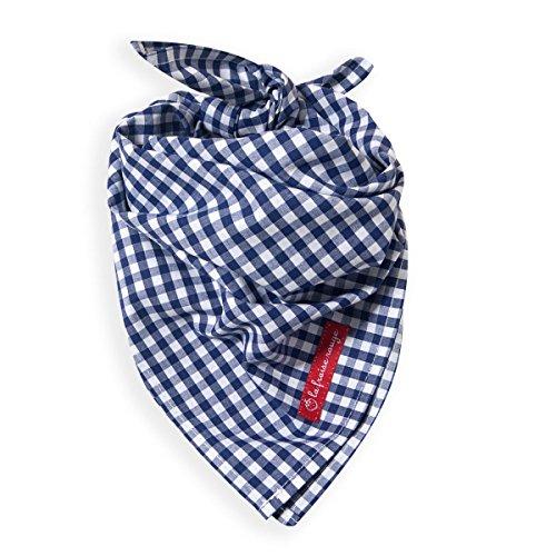 La Fraise Rouge 4251005600832 Halstuch Alain, Vichy Karo, dunkelblau weiss