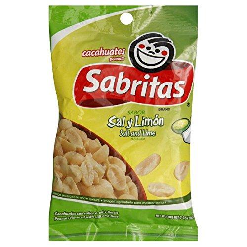 Sabritas Salt and Lime Peanuts, 7 Ounce (Pack of 12)