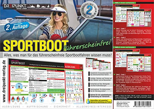 Info-Tafel-Set Sportboot führerscheinfrei: Grundlagenwissen für das führerscheinfreie Sportbootfahren - Binnen & See