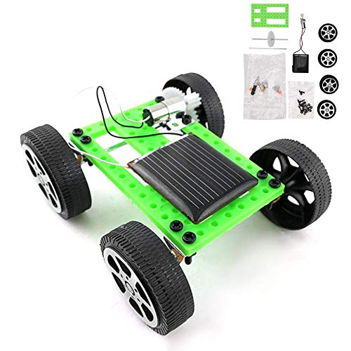 Tbest DIY Vehículo de Juguete con energía Solar Juguete para niños Mini Sun Power Modelo de Coche Solar Juguete Física Ciencia Juguete Educativo