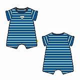Steiff Baby-Jungen Spielanzug Spieler, Blau (Skydiver 6040), 80 (Herstellergröße: 080)